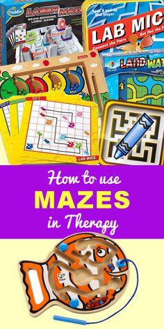 Games That Include Mazes Therapy Games, Play Therapy, Occupational Therapist, Physical Therapist, Visual Memory, Activities To Do, Speech And Language, Fine Motor Skills, Social Skills