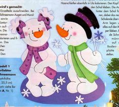 Two snowmen part 1 parts) Snow Crafts, Diy And Crafts, Christmas Crafts, Christmas Decorations, Xmas Stockings, Class Decoration, Christmas Templates, Book Quilt, Doll Patterns