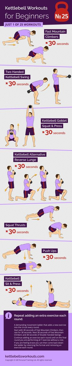 A demanding but motivational kettlebell  and bodyweight movement ladder that adds a new exercise each round. Great for full body conditioning and cardio. #kettlebell #workout #exercise