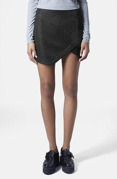 TOPSHOP - Tinsel Wrap Miniskirt