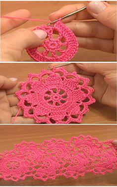 Crochet flower lace tape