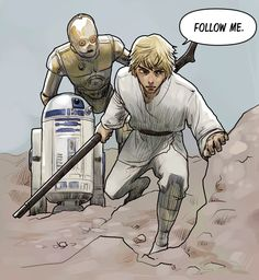 Star Wars by Hong Jacga on Line Webtoons #Comics #Webcomics #Webtoons #StarWars #C3PO #R2D2