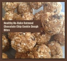 Perfect after school snack- oatmeal chocolate chip cookie dough bites that are good for you!  #nobake #snacks #recipes
