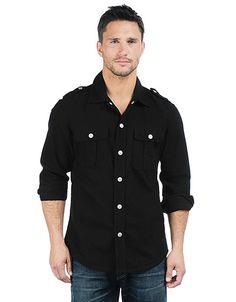 Men's Luca Solid Flannel Shirt