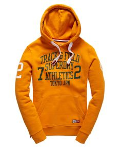Mens - Trackster Hoodie in Track Gold | Superdry