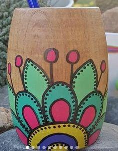 Painted Flower Pots, Paint Pens, Clay Pots, Home Art, Cactus, Planter Pots, Mandala, Abstract Art, Mexico