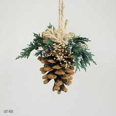 Christmas Decorations, Christmas Tree Ornament, Pine Cone Ornament, Natural Rustic Woodland Holiday