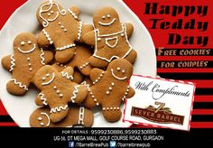 Happy Teddy Day to all. Feel 'Bearly Loved' at 7 Barrel Brew Pub tonight. Enjoy homemade style fresh teddy cookies on the house tonight... #teddyday #teddycookies #bearlyloved #freecookies