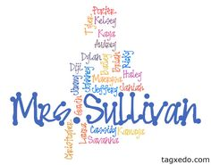 Mrs. Teachnology: Tagxedo! Use to write out your class roster! Awesome idea for back to school!