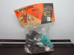 Vintage Payton INDIAN LODGE Western Cowboys Toy Soldiers - New Old Stock Marx