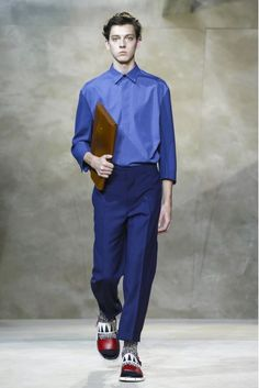 Consuelo Castiglioni's return to the Milan runway and the first collection for her Marni label's menswear line was a breath of fresh air. #MilanFashionWeek