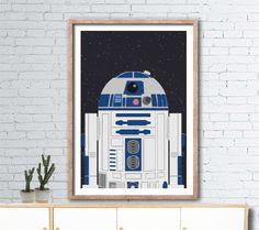 Printable Star Wars R2D2 poster 60cmx90cm boys by AlignMedia