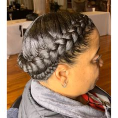 # cornrows Braids straight back Natural Hair Braids, Braids For Black Hair, Natural Hair Styles, 2 Braids Hairstyles, Wedding Hairstyles, Updo Hairstyle, Wedding Updo, Halo Braid With Weave, Quick Braids
