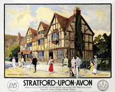C A B Stratford Upon Avon Stratford-upon-Avon', LMS poster, c 1923.