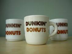 Dunkin' donuts coffee mugs