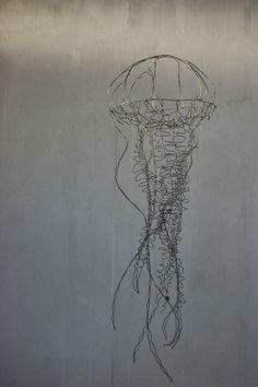 wire art sculpture jellyfish objets fils de fer sculptures et objets