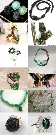 Fancy Schmancy - Vintage Jewelry from Vjt by moonbeam0923 on Etsy--Pinned+with+TreasuryPin.com