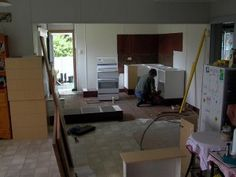 Kitchen renovation under way. Now what's for dinner?