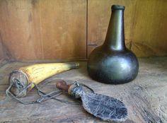 Antique Glass Bottles, Colonial, Primitive, Vase, Antiques, Home Decor, Antiquities, Antique, Decoration Home