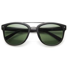 - Description - Measurements - Shipping - Double-bridged wayfarer sunglasses that features an elegant metal crossbar on the top of the frame a metal nose bridge. The traditional lines and metal detail