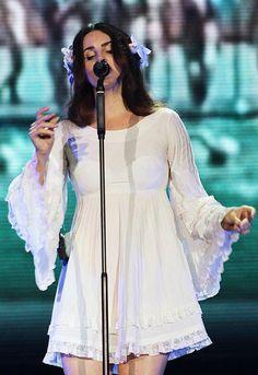 Lana Del Rey performing at Lollapalooza