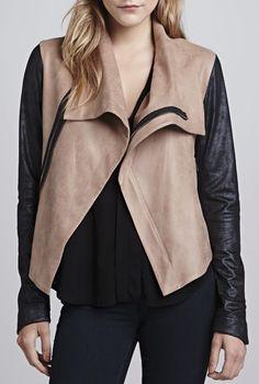 Leather jacket #MyVSFallEdit