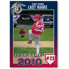 Baseball card template perfect for trading cards for your for Baseball card size template