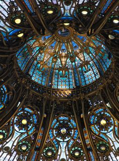 Stained Glass Windows in Dome