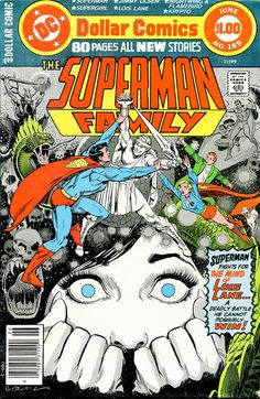 Comic Book Critic - Google+ - The Superman Family #189 (May-Jun '78) cover by Jose Luis Garcia-Lopez.