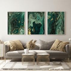 Our new Emerald Marble print collection is live! Living Room Green, Living Room Decor, Living Room Canvas Art, Marble Print, Large Furniture, Home Office, Art Prints, Interior Design, Home Decor