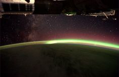 The Milky-Way and Aurora Australis | by europeanspaceagency