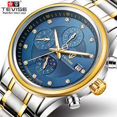 08ee957f2ee ... Mechanical Watch Men Sport Waterproof Luminous Moon phase Watch Relogio  Masculino-in Mechanical Watches from Watches on Aliexpress.com