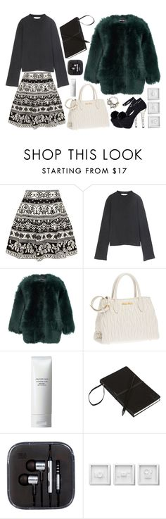 """""""It's to sprout my wings"""" by natjulieta on Polyvore featuring moda, Alexander McQueen, Rochas, Miu Miu, Shiseido, CB2, WALL y Eclectic Shock"""