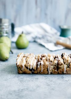 Forget scones, we're making a pull-apart scone bread with bourbon spiked pears and a maple glaze!