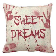 blood splatter pillows | Blood & Guts Pillows | Creepypasta ...