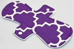 11 inch Purple Lattice Cotton Jersey Overnight Cloth pad