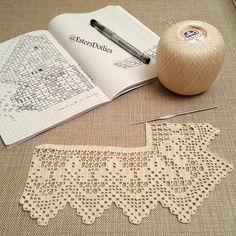 Hand crocheted border in your desired length, filet crochet lace trim, linear or turning edge for home décor, wide lace border, cream fine crochet handmade edging. Such an elegant and delicate look! This nice crochet border has vintage accents and is made Filet Crochet, Crochet Sheep, Crochet Lace Edging, Crochet Borders, Love Crochet, Hand Crochet, Crochet Patterns, Crocheted Lace, Crochet Edgings