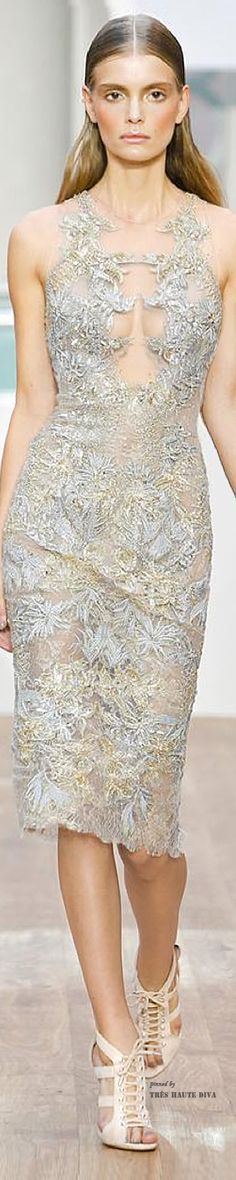 #LFW Julien Macdonald Spring/Summer 2015 RTW - pin courtesy of Tres Haute Diva