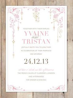 Wedding Invitation, simple with a little design by elsie