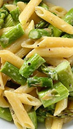 Roasted Asparagus and Garlic Penne