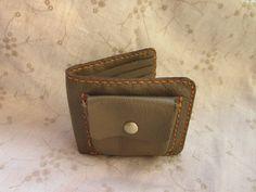 革財布 Leather bi-fold wallet hand stitched
