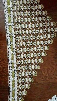 This Pin was discovered by Lal Crochet Borders, Filet Crochet, Crochet Shawl, Easy Crochet, Baby Boy Knitting Patterns, Crochet Stitches Patterns, Lace Patterns, Dress Patterns, Crochet Curtains