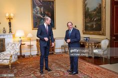 Britain's Prince William, Duke of Cambridge receives Egypt's President Abdel Fattah al-Sisi during an audience at St James's Palace in London on January 21, 2020. (Photo by Victoria Jones / POOL / AFP) (Photo by VICTORIA JONES/POOL/AFP via Getty Images)