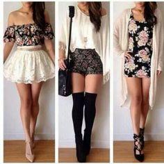 dress white cute lace blouse shorts black floral girly skirt pink vintage short bag shoes skater skirt floral little flower dress pullover t...