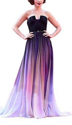 Ikerenwedding Women's Gradient Chiffon Formal Evening Dresses Long Party Prom Gown Purple US10 Ikerenwedding http://www.amazon.com/dp/B012HTZQBY/ref=cm_sw_r_pi_dp_H-xTvb03GB72D