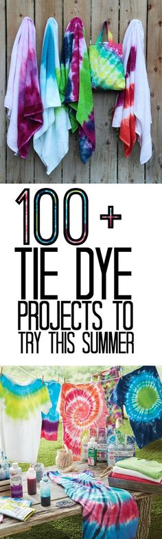 Looking for a great craft for the whole family to do this summer? Try tie dye! With all kinds of tie dye projects you will be dyeing everything this summer! Pin now read later for fun summer activitie (Try Teens Diy Projects) Kids Tie Dye, Kids Ties, How To Tie Dye, Diy Tie Dye Projects, Tie Dye Crafts, Summer Activities For Teens, Teen Activities, Ty Dye, Tie Dye Party