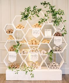 Coles Garden Wedding Venue on Holy sweetness - check out this awesome donut display! Dessert Bar Wedding, Wedding Desserts, Dessert Table, Wedding Decorations, Dessert Bars, Wedding Cakes, Garden Wedding, Diy Wedding, Wedding Venues