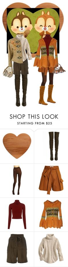 """""""Chip 'n Dale"""" by susan0219 ❤ liked on Polyvore featuring ALEXA WAGNER, Wolford, MSGM, A.L.C., Moschino Cheap & Chic, Chloé and Frye"""