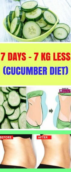 The Cucumber diet is a 10 days diet plan whose main ingredient is cucumber, as you might have guessed from the name. Aside from cucumbers, you can consume some other healthy, nutritious meals and we'll show you exactly how to combine them so that you can lose up to 7 kilograms in one week. #fat#diet#fatburn#loseweight#overweight#health#fitness#foxhealthy#fitness