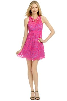 Love the Nanette Lepore Secret Escape Dress-- it's so bright and happy looking! Great for a summer time cocktail party.
